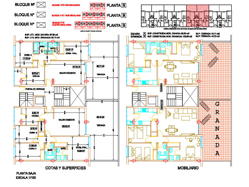 Pro service village development s l for Floor plans for 160 000